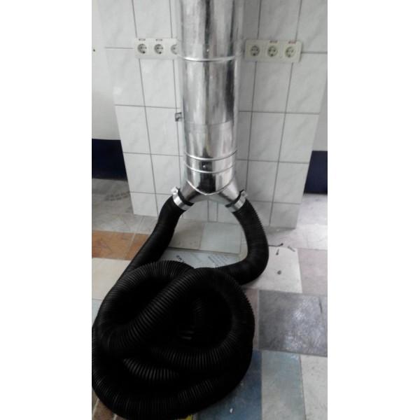 Бюджетная двухпостовая система вытяжки выхлопных газов с импортными шлангами 2 Х 10м диаметр 100мм