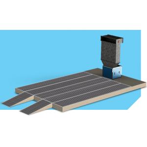 """Малярный пост предварительной подготовки для автосервиса, модель без потолка с решетками и трапами """"APP-L-P"""", размер 6Х3,5Х2,6м"""
