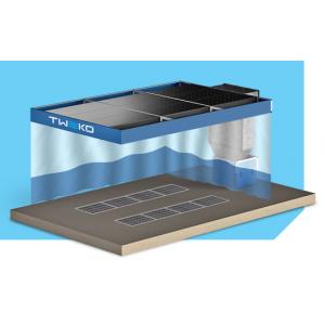 """Малярный пост предварительной подготовки для автосервиса, модель с потолком, шторками, двухрядными решетками """"APP-S-40"""", размер 6Х4Х2,6м"""