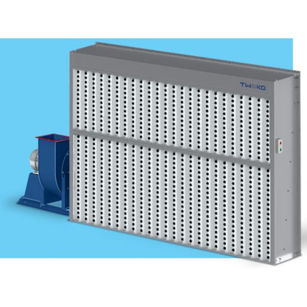"""Покрасочный вытяжной шкаф сухой фильтрации без боковин, рабочая зона покраски 4мХ1,8м, модель """"ASS-COMPACT-4"""""""
