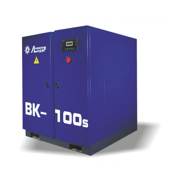 Винтовой компрессор ВК 100s, производительность до 13.6m3/min, 75кВт. Ременной привод.