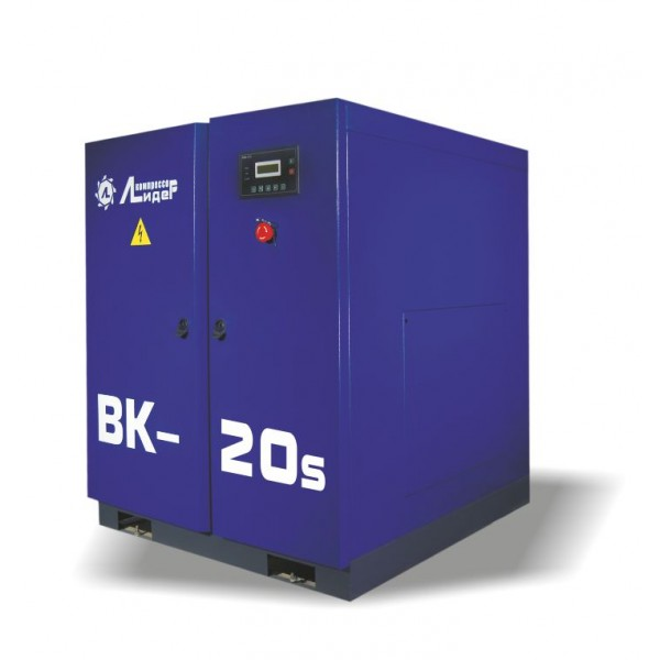 Винтовой компрессор ВК 20s, производительность до 2.6m3/min, 15кВт. Ременной привод.