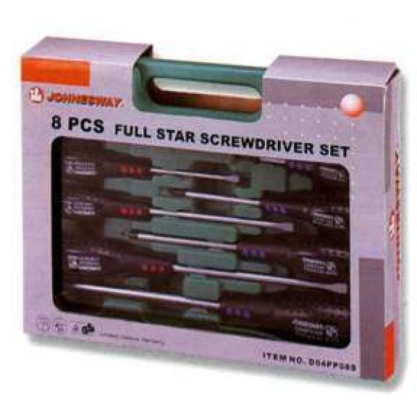 D04PP08S Набор отверток шлиц и крест FULL STAR, 8 предметов