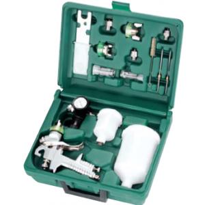JA-HVLP-1080GK Набор Профессиональный краскопульт JA-HVLP-1080G и аксессуары, 16 предметов