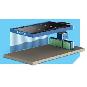 """Малярный пост предварительной подготовки для автосервиса, модель с потолком и шторкой """"APP-FF-40"""", размер 6Х4Х2,6м"""