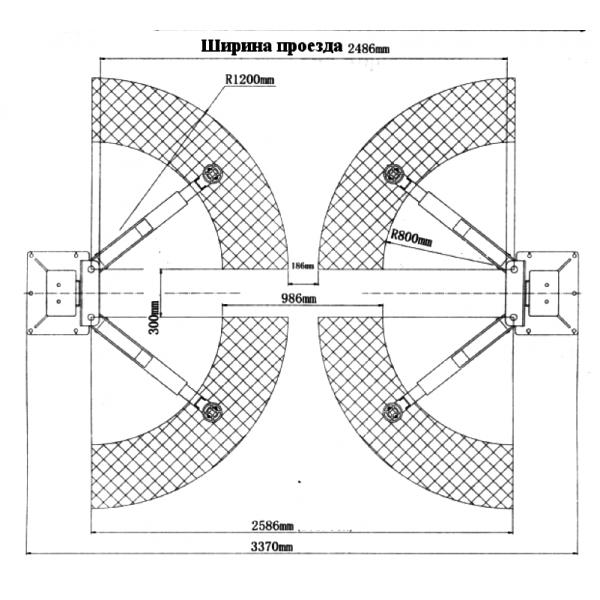 Двухстоечный подъемник TB35.380 3.5тонн
