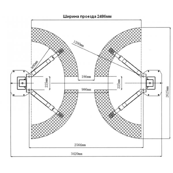 Двухстоечный подъемник TS35.380 3.5тонн