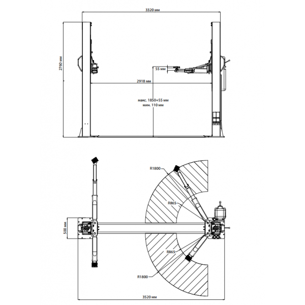 "Подъемник ""Trommelberg TST55W 5,5т"